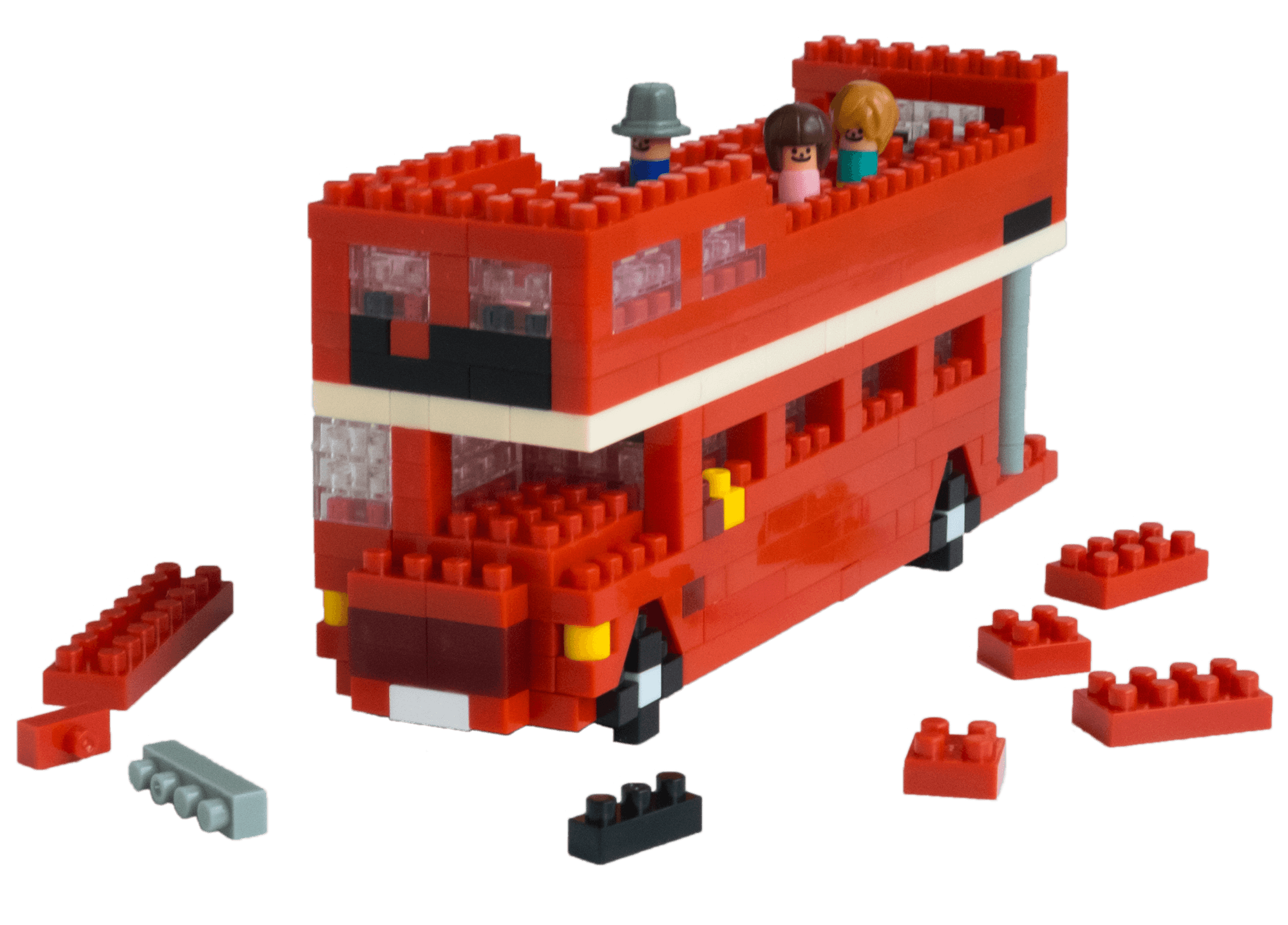 Bus with bricks